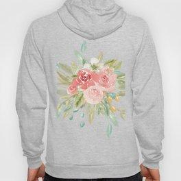Loose Boho Watercolor Florals Hoody