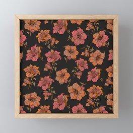 fall tropical floral Framed Mini Art Print