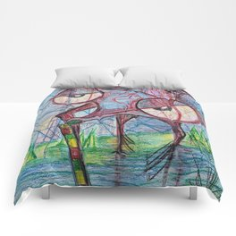 Drunken mosquito Comforters