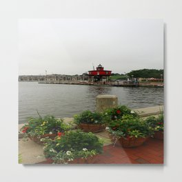 Seven Foot Knoll Light - Baltimore Inner Harbor Metal Print