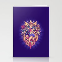 sailormoon Stationery Cards featuring In the Name of the Moon by Megan Lara