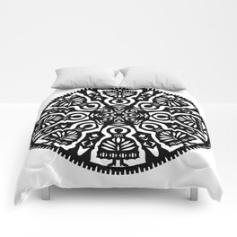 Polish Papercut Dancers Black Comforters