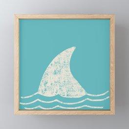 Beach Series Aqua - Shark Animal in the deep See Framed Mini Art Print
