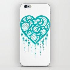 Heart-Catcher Teal iPhone & iPod Skin