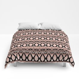 Brown grey ornament Comforters