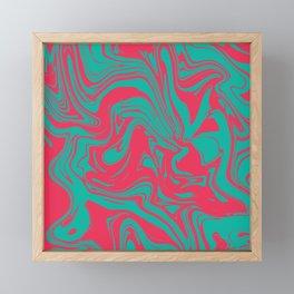 Liquid marble texture design 033 Framed Mini Art Print