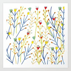 Floral pattern, illustration pattern, flowers, prretty Art Print