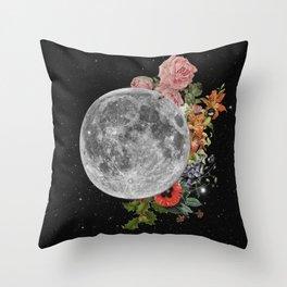 .Stuck Behind the Moon. Throw Pillow