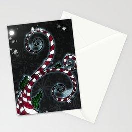 Candy Cane Vine Stationery Cards