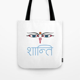 Shanti - buddha eyes Tote Bag