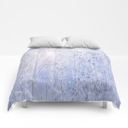 Winter Sparkle On A Sunny Frosty Day #decor #buyart #society6 Comforters