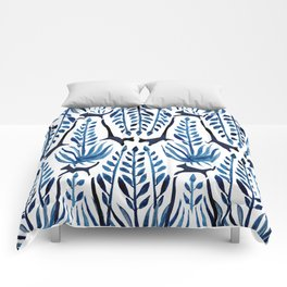 Cats & Palms Blue Comforters