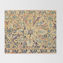 Kermina  Suzani  Antique Uzbekistan Embroidery Print Throw Blanket