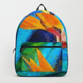Bird Of Paradise Plant art Backpack