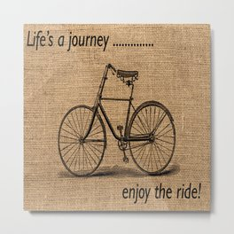 VINTAGE BICYCLE Pop Art Metal Print