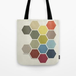 Eventually Everything Connects // Honeycomb Modern Abstract Poster Tote Bag