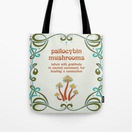 Sacred Mushroom Medicine Tote Bag