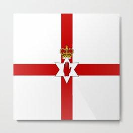 Flag of Ulster Metal Print