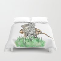 wild things Duvet Covers featuring The Wild Things by Cherry Virginia