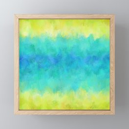 Sunflower and Ice Abstract Framed Mini Art Print