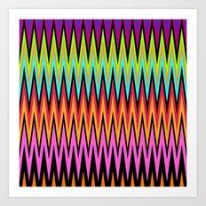 Zigzag #8 Art Print