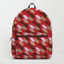 Abstract Leaves (Red): a lively everyday pattern with a retro feel to rev up your day Backpack