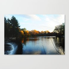 The South Natick Falls Canvas Print
