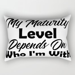 Immature With Besties Mature In Public Funny Maturity Rectangular Pillow