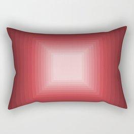 Red Square Gradient Rectangular Pillow