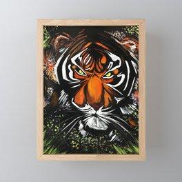 Tiger Stare Framed Mini Art Print