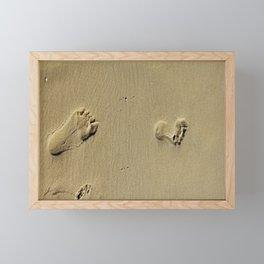 Feet on Sand-Natural Framed Mini Art Print