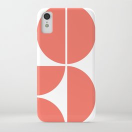 Mid Century Modern Living Coral Square iPhone Case