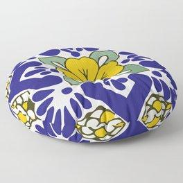 Talavera Gold Mosaic Floor Pillow