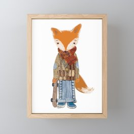 Fox Boy Framed Mini Art Print