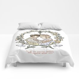 """Illustration from the video of the song by Wilder Adkins, """"When I'm Married"""" (no names on it) Comforters"""