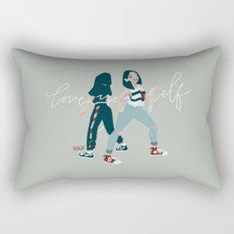 love yourself Rectangular Pillow