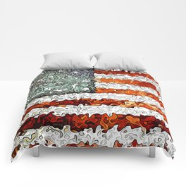 American Flag Abstract Comforters
