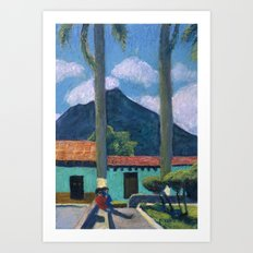 Antigua Park Bench Art Print