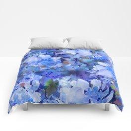 Wild Blue Rose Garden Comforters