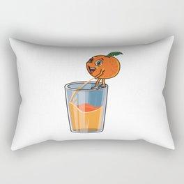 Freshly Squeezed Orange Juice Rectangular Pillow
