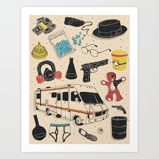 Artifacts: Breaking Bad Art Print