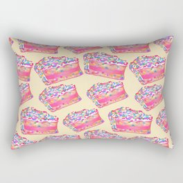 Birthday Cake - Yellow BG Rectangular Pillow