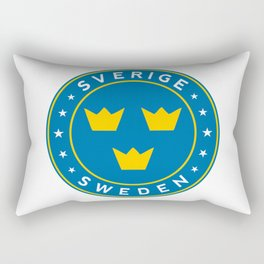 Sweden, Sverige, 3 crowns, circle Rectangular Pillow