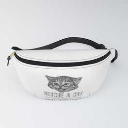 Cat Lover Rescue a Cat Save Nine Lives Fanny Pack