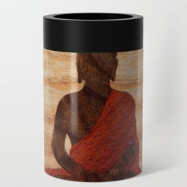 Buddha marquetry Can Cooler