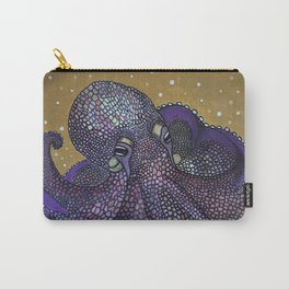 Purple Mosaic Octopus Carry-All Pouch
