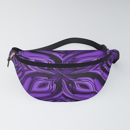 Ultraviolett Metallic Style Engraved Surface Fanny Pack