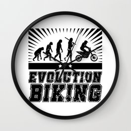 Evolution Biking - Motocross Wall Clock