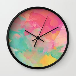 colored explosion Wall Clock