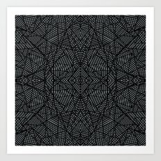 Ab Lace Black and Grey Art Print
